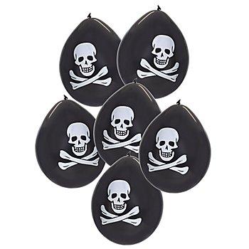 Ballons de baudruche 'pirate', 6 pièces