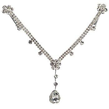 Bijoux de front 'diamant' pour enfants, argent