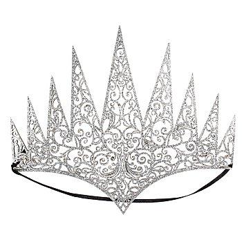 Bijoux de front 'reine', argent