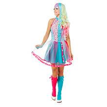 Candy-Girl-Kostüm für Damen, türkis/pink
