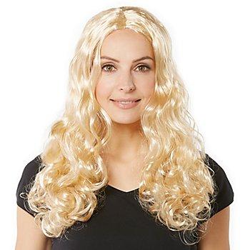 Perruque à cheveux bouclés 'Lara', blond