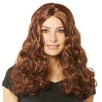 Perruque à cheveux bouclés 'Lara', marron