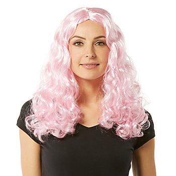 Perruque à cheveux bouclés 'Lara', rose