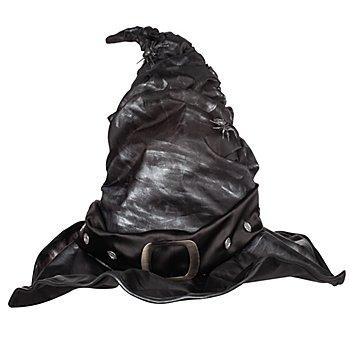 Hexenhut 'Metallic', schwarz/silber