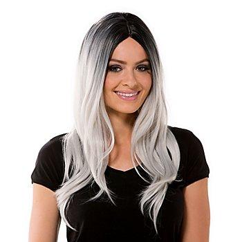 Perücke 'Grey Lady', grau/schwarz
