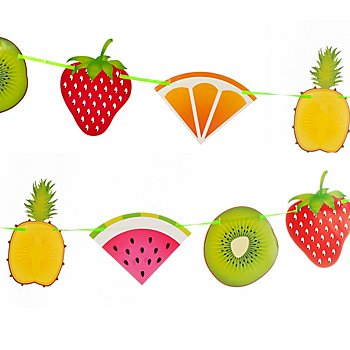 Guirlande en papier 'fruits', 6 m