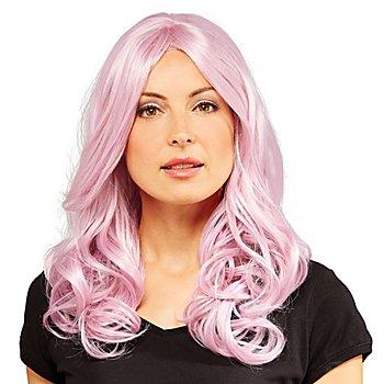 Perruque 'Elli', violet, résistant à la chaleur