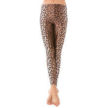 buttinette Leggings 'Leo-Look', braun/schwarz
