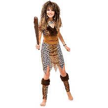 Steinzeitfrau Kostüm, braun