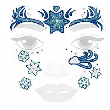 Face-Art-Tattoo 'Eiszeit'