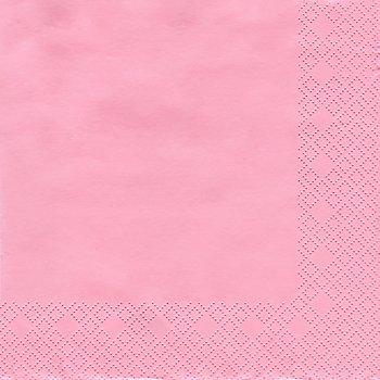 Serviettes en papier, rose, 33 x 33 cm, 20 pièces