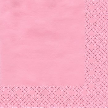 Papierserviette, rosa, 33 x 33 cm, 20 Stück