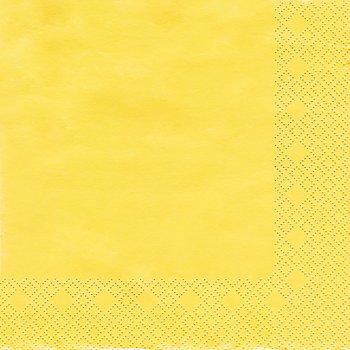 Papierserviette, gelb, 33 x 33 cm, 20 Stück