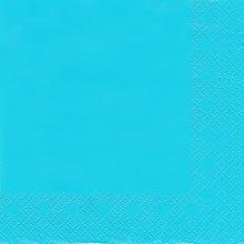 Serviettes en papier, bleu, 33 x 33 cm, 20 pièces