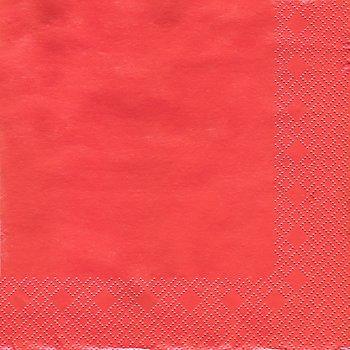 Papierserviette, rot, 33 x 33 cm, 20 Stück