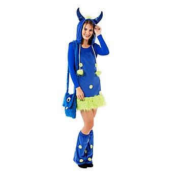 Monsterkleid für Damen, blau/grün