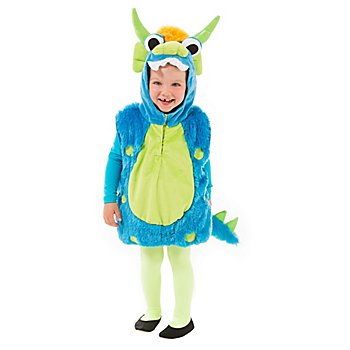 Monsterweste für Kinder, türkis/grün