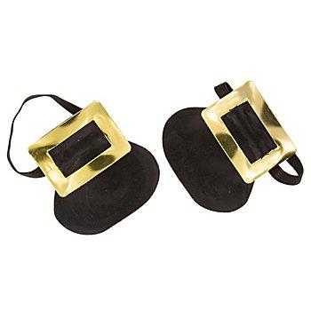 Schuhschnallen, gold/schwarz