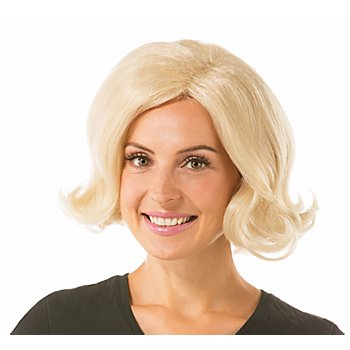50er-Jahre Bob-Perücke, blond