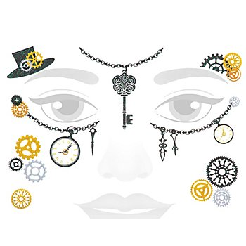 Face Art Tattoo 'Zeitreise'