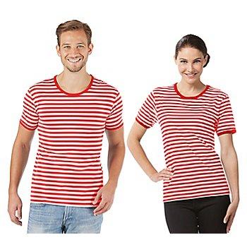 Shirt rayé à manches courtes 'rayures rouges' pour hommes ou femmes