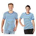 """Kurzärmeliges Ringelshirt """"Blue Stripes"""" für SIE und IHN"""