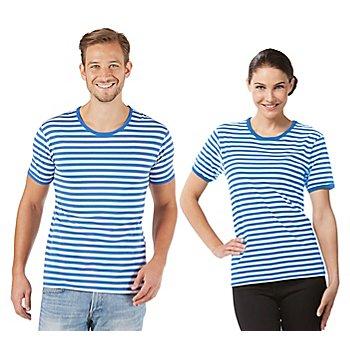 Shirt rayé à manches courtes 'rayures bleues' pour hommes ou femmes