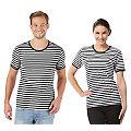 """Kurzärmeliges Ringelshirt """"Black Stripes"""" für SIE und IHN"""