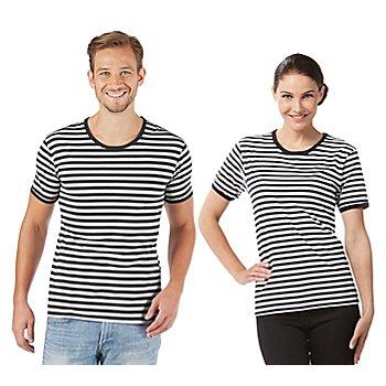 Kurzärmeliges Ringelshirt 'Black Stripes' für SIE und IHN