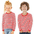 "Langärmeliges Ringelshirt ""Red Stripes"" für Kinder"