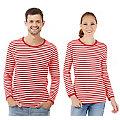 """Langärmeliges Ringelshirt """"Red Stripes"""" für SIE und IHN"""