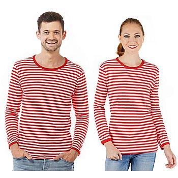 Langärmeliges Ringelshirt 'Red Stripes' für SIE und IHN