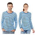"""Langärmeliges Ringelshirt """"Blue Stripes"""" für SIE und IHN"""