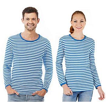 Langärmeliges Ringelshirt 'Blue Stripes' für SIE und IHN