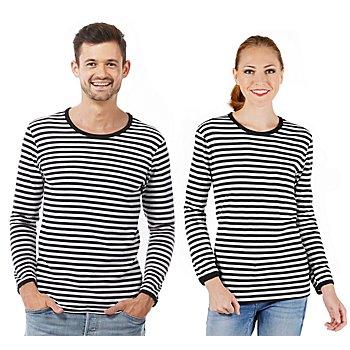 Langärmeliges Ringelshirt 'Black Stripes' für SIE und IHN