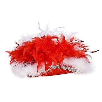 Chapeau de majorette pour enfants, rouge/blanc/argent