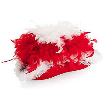 Chapeau de majorette, rouge/blanc/argent