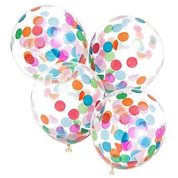 Latex-Ballon 'Konfetti', 4 Stück