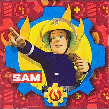 Papierserviette 'Feuerwehrmann Sam', 33 x 33 cm, 20 Stück