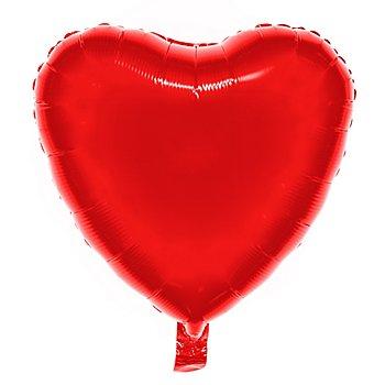 Ballon en film plastique 'cœur', rouge, 43 cm