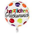 """Folienballon """"Glückwunsch"""", 43 cm Ø"""