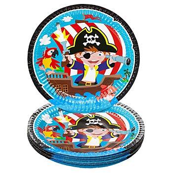 Pappteller 'Piratenparty', Ø 23 cm, 8 Stück