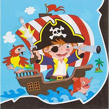 Papierserviette 'Piratenparty', 33 x 33 cm, 20 Stück