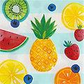 """Serviettes en papier """"Bonjour l'été"""", 33 x 33 cm, 16 pièces"""