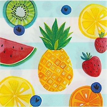 Serviettes en papier 'Bonjour l'été', 33 x 33 cm, 16 pièces
